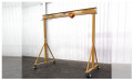 Spanco 1 Ton E-series Adjustable Height 4 4 to 7 0 Gantry Crane