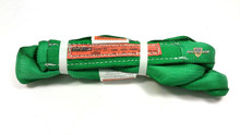 Green Endless Polyester Round Sling Tubular 8' Long