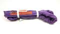 Purple Endless Polyester Round Sling Tubular 8' Long