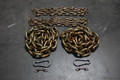 "5/8"" & 1/2"" Weightlifting Chain Package - 65.6 lbs - Powerlifting - Crossfit"