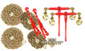 """3/8"""" Transport Package - (2) Lever & Ratchet Binders - (2) 10' & 20' Foot Chains"""