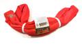 Red Endless Polyester Round Sling Tubular 6' Long