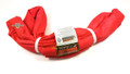 Red Endless Polyester Round Sling Tubular 16' Long
