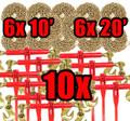 "3/8"" Transport Hauling Load - 10x Ratchet Binders - 6x 20' & 6x 10' Foot Chains"