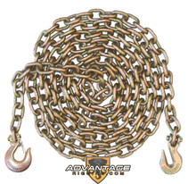 "3/8"" - Grade 70 Binder Chain - Slip Hook and Grab Hook - 20' Length"