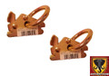 E-Track Steel O Ring Tie Down Anchor 2 Pack