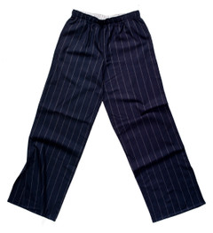 The Flannel Pajama Pant in blue suit stripe.