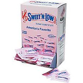 One packet of Sweet'N Low is as sweet as two teaspoons of sugar. But unlike sugar, which has 16 calories and 4 grams carbohydrate per teaspoon, Sweet'N Low has less than 4 calories which is considered by the FDA as dietetically zero and less than 1 gram carbohydrate per packet.