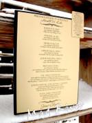 10 x 13 Priesthood Line of Authority Plaque, Satin Gold