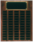 60 Plate Solid Walnut Perpetual Plaque - Free Engraving