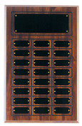24 Plate Cherry Finish Perpetual Plaque - Free Engraving
