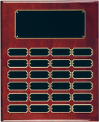 24 Plate Rosewood Piano Finish Perpetual Plaque - Free Engraving