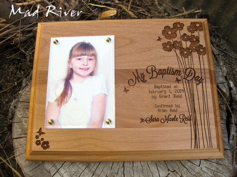 Super Cute! Super Custom Baptism Plaques.