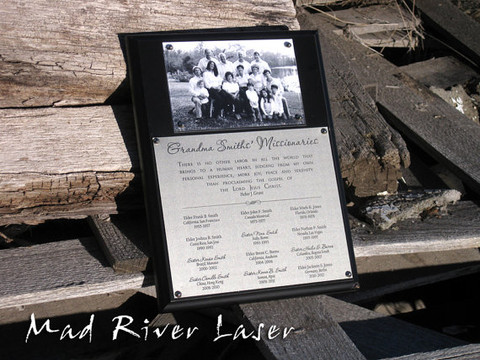 Generations of LDS Missionaries plaque