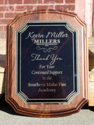 Solid Walnut Executive Notched Plaque