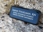Name Badge/ Tag - 3 x 1 - Black Metal