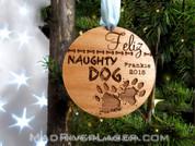 Feliz Naughty Dog Custom Christmas Ornament