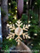 Custom monogrammed Christmas snowflake ornament.