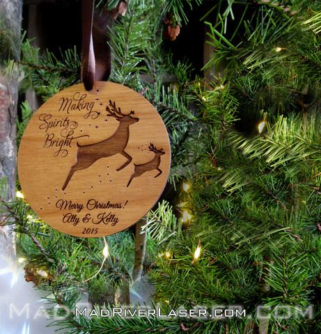 Making Spirits Bright custom ornament.