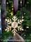 Custom monogrammed Christmas snowflake ornament.
