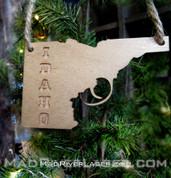 Idaho Gun Ornament