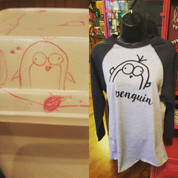 Penguin Baseball Tee