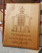 Chapel Doors Plaque 10.5 x 13