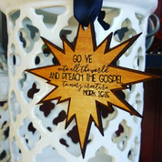 Missionary Theme Star Ornament