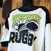 MANO RUGBY Ladies Heritage Blend Raglan 3/4 Sleeve