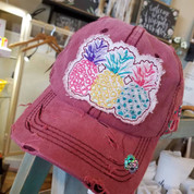 Distressed Ladies Cap - Pineapple