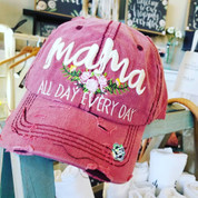 Mama - Distressed Ladies Cap - All Day