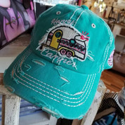 Happy Camper - Distressed Ladies Cap -