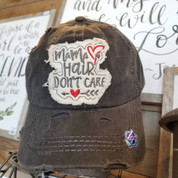 Mama Hair Don't Care Heart Cap