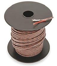Type J 20 gauge thermocouple wire, 250 foot spool.  Fiberglass jacket