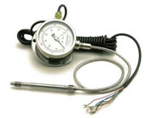 "mechanical pressure sensor with dial display, 6"" stem, 0-5000PSI"