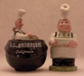Hap-Pea and Pea-Wee Salt and Pepper Shaker Set