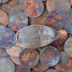 Pressed Copper Penny - Merry Christmas