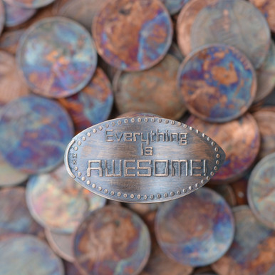Pressed Copper Penny - Everything Is Awesome