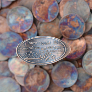 "Pressed Copper Penny - My Soul Loves - I have found the one that my soul loves,"" this penny will sure be a special keepsake for years to come. Song of Solomon 3:4"