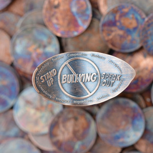 Pressed Copper Penny - Stop Bullying - Stand Up and Speak Out