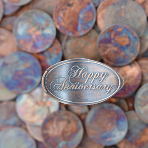 Pressed Copper Penny - Happy Anniversary