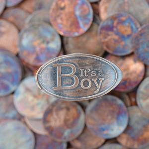 Pressed Copper Penny - It's A Boy