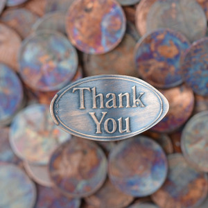 Pressed Copper Penny - Thank You