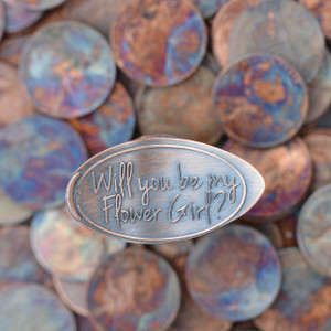 Pressed Copper Penny - Will You Be My Flower Girl?