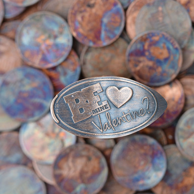 Pressed Copper Penny - Be Mine Valentine?