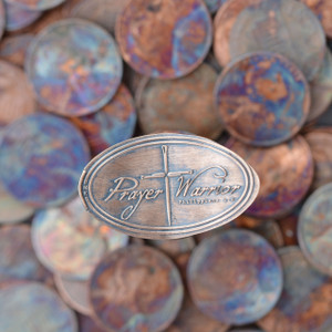 Pressed Copper Penny - Prayer Warrior
