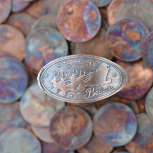 Pressed Copper Penny - Believe in Santa