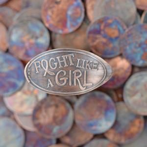 Pressed Copper Penny - Fight Like A Girl