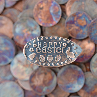 Pressed Copper Penny - Happy Easter