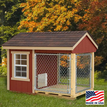 Dog Kennel 4x7 with outside run | EZ Fit Sheds Wilmot Ohio